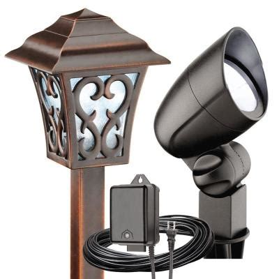 discontinued malibu landscape lights malibu low voltage led tarnished copper and black coach
