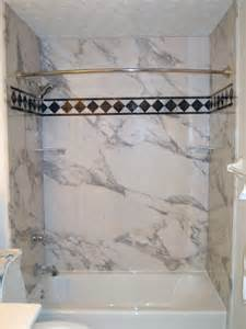 New sentrel shower amp tub wall panels the glamorous look of marble and