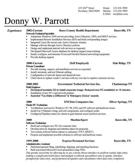 successful resume templates cv resume template exles