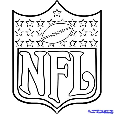 Nfl Coloring Pages Butterfly Wings Tattoo Nfl Logo Coloring Pages