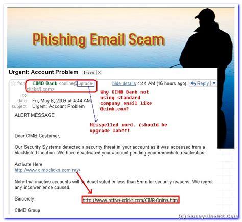 Cimb Bank Letterhead alert cimb bank send phishing emails cimb bank scam