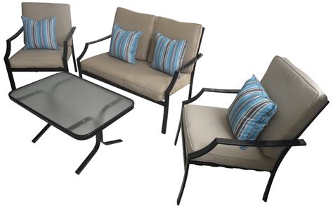 strathwood brentwood 4 piece all weather furniture set