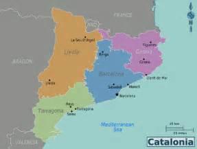 image gallery map catalunya