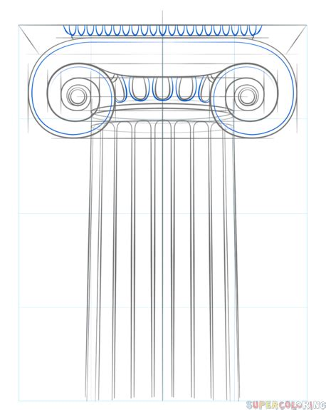 How To Draw A Column how to draw the ionic column step by step drawing tutorials