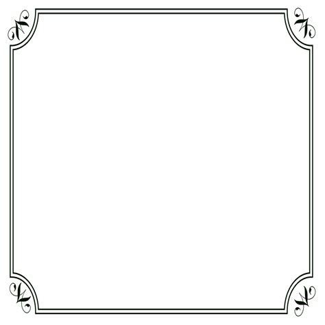 frame border template black border frames photoshop scrolls