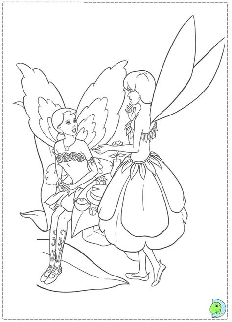 free coloring pages of barbie fairy