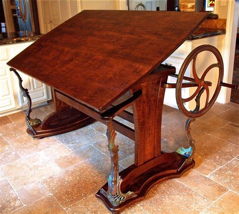 custom drafting table custom handmade steunk style drafting table