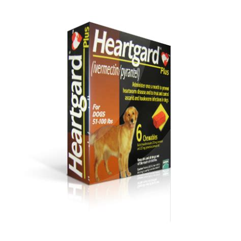 heartgard for dogs heartgard plus brown chewable for dogs between 51 100 lbs 6 chewable tablets