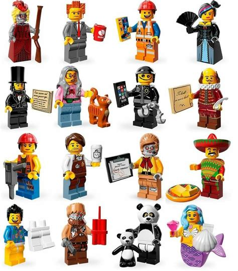 Lego Minifigures Series 12 Complete Set 16 Character the lego complete set of all 16 minifigures series 12 71004 lego