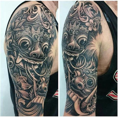 tattoos of barong barong and rangda mask tattoo tattoos pinterest