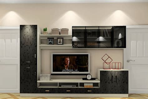 Black Cabinet For Living Room by 3d Minimalist Living Room With Black Tv Cabinet 3d House