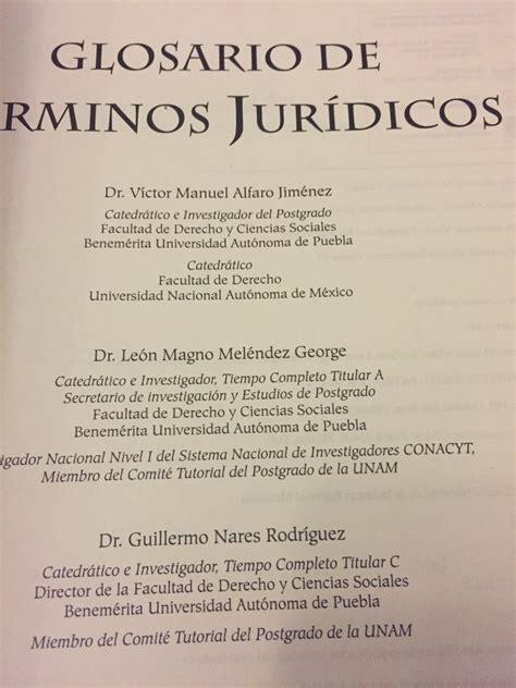 libro diccionario de trminos jurdicos glosario de t 233 rminos jur 237 dicos 350 00 en mercado libre