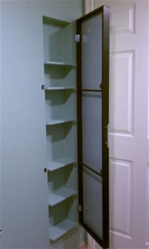 custom storage built in behind door small bathroom 1000 images about between the studs on pinterest studs
