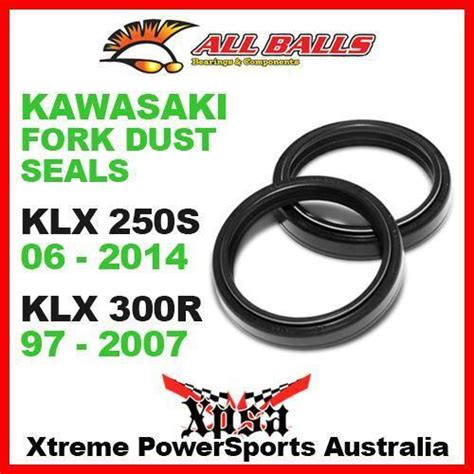Seal Shock Klx fork dust seals kit kawasaki klx250s 06 2014 klx300r 97 2007 mx all balls 57 102