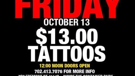 friday the 13th tattoos las vegas where to get your friday the 13th in las vegas