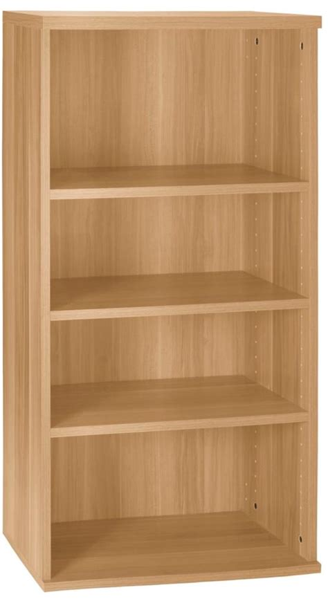 wall mountable bookshelves 4 shelf bookcase beech finish wall mountable schmal