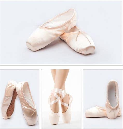 satin pink professional ballet shoes