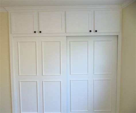 Closet Cabinets With Doors Built In Closet With By Pass Doors Ideal Cabinets Inc