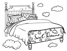bed coloring page printable bed coloring page free pdf at http