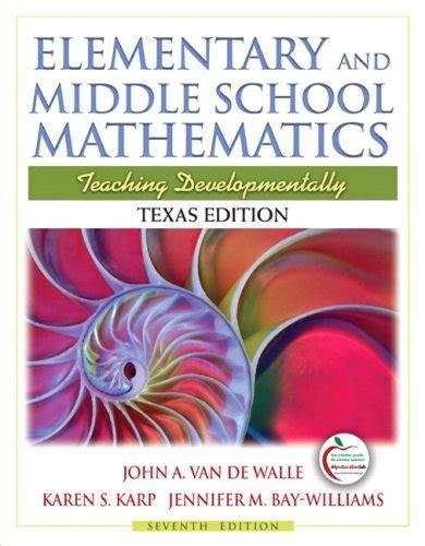 reconceptualizing mathematics for elementary school teachers mathematics for elementary school teachers bassarear 4th