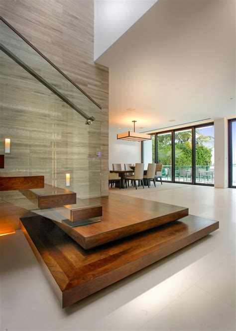 Contemporary Metal Staircase Wooden Floating Steps Glass Steps To Becoming An Interior Designer