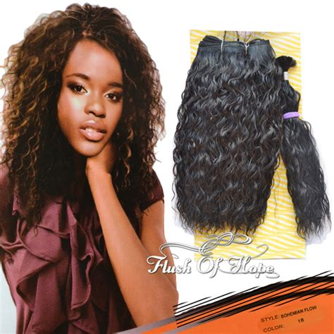 bohemian hair weave in the pack free hair bulk noble gold bohemian flow curly synthetic