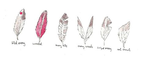 Meaning Of Feathers 1 Killed Enemy 2 Wounded 3 Many Kills Feathers Meanings