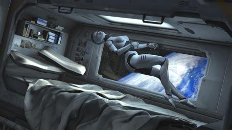 spaceship bed mechanoid rebel sci fi space dreaming by