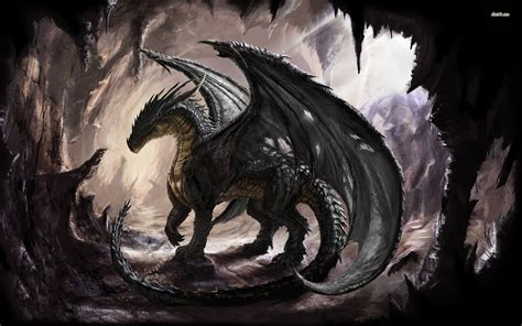 black dragon cave dragon in the cave fantasy wallpaper 82838 resolution