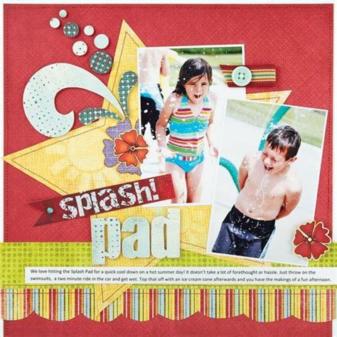 scrapbook layout guide water fun summer scrapbook layouts on pinterest layout