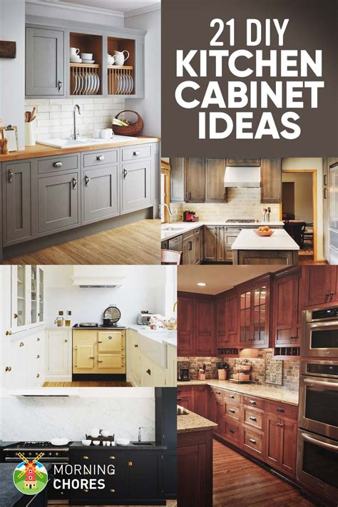 How To Remodel Kitchen Cabinets Cheap by 21 Diy Kitchen Cabinets Ideas Plans That Are Easy