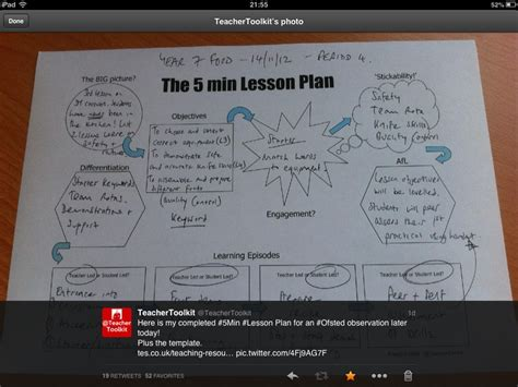 lesson plan template mcgill my own exle of the 5minplan teaching resources