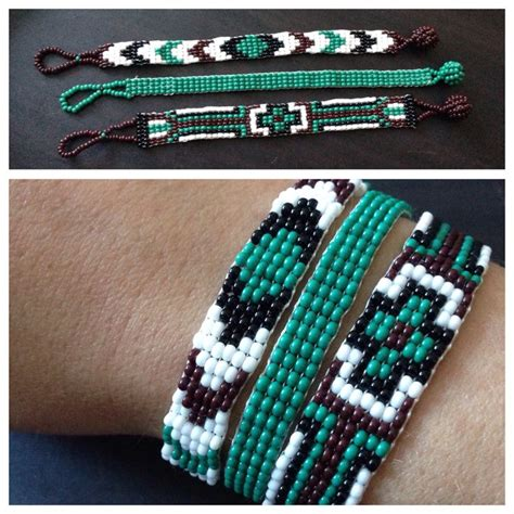loom bead patterns for bracelets photo only beaded loom bracelet trio beaded loom