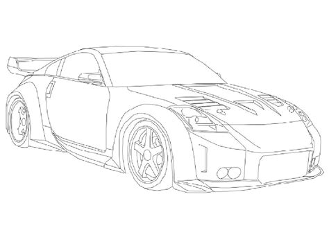 nissan 350z drawing free coloring pages of draw a drift car