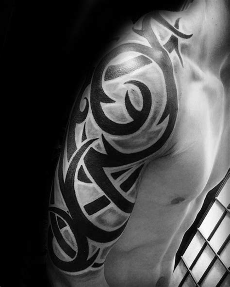 tribal half sleeve tattoo ideas 75 half sleeve tribal tattoos for masculine design ideas