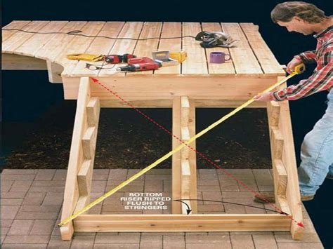 how to build cascading deck stairs studio design