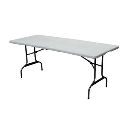 6 folding table home depot hdx 6 ft folding table 3072fx the home depot