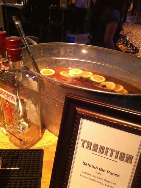 bathtub punch bathtub gin at sfchefs food fest in san francisco s union