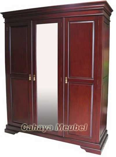 Lemari Pakaian Kayu Jati 3 Pintu lemari pakaian 3 pintu kayu jati cahaya mebel jepara