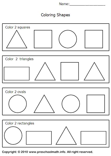 printable shapes for first grade image detail for shapes worksheets for for preschool
