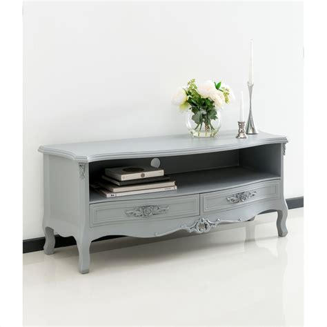 grey antique style tv cabinet