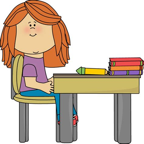 Student At Desk Clipart Clipart Best Student At Desk Clipart