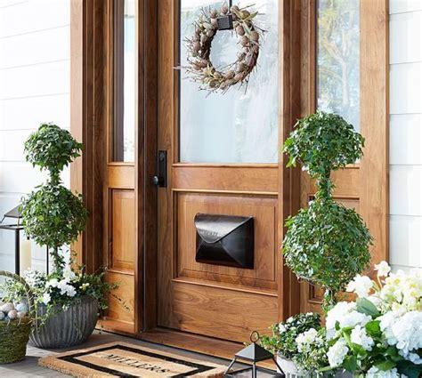 Door Wreaths Pottery Barn Concrete Fluted Planters Pottery Barn Doors Wreath Hanger Planters And Doors
