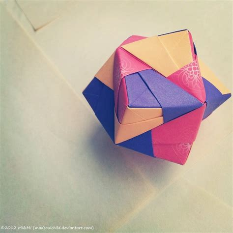 Origami Net - modular origami octahedron by madsoulchild on deviantart