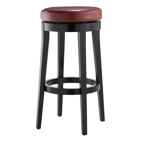 bar stools for home home decorators collection 30 in red cushioned swivel bar