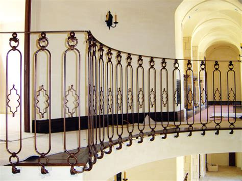 Colonial Home Decorating wrought iron rotunda railing mediterranean los angeles