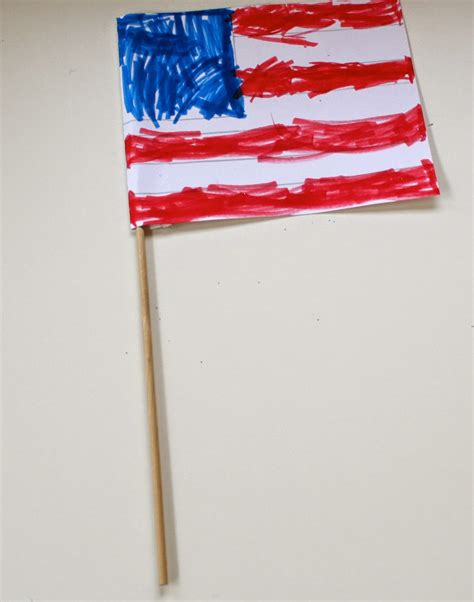 How To Make A Flag Out Of Paper - the chirping patriotic activities for
