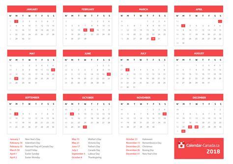 Canada 2018 Calendar 2018 Calendar Canada Merry Happy New Year