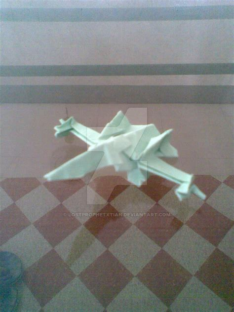 Origami Fighter - origami fighter by lostprophetxtian on deviantart