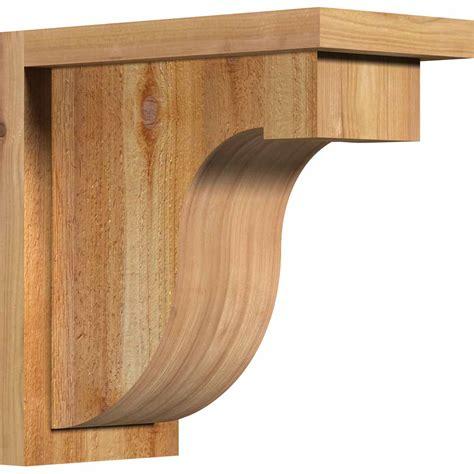 Rustic Wood Corbels Ekena Millwork Cordel01 Monte W Backplate Rustic